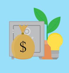 finance idea concept vector image