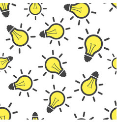 light bulb seamless pattern background business vector image