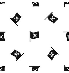 pirate flag pattern seamless black vector image vector image