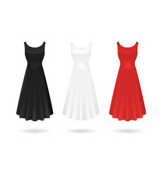 realistic detailed 3d women dress mock up set vector image