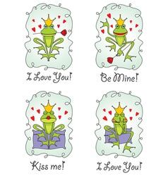 Set greeting valentine card vector