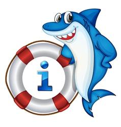 Shark Information Kiosk Sign vector image vector image