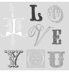 vintage letters vector image vector image