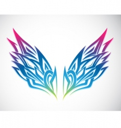 wing ornament vector image vector image