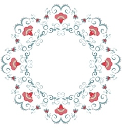 Abstract floral frame design element vector image vector image
