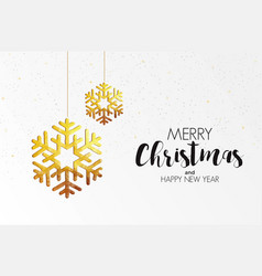 holiday christmas card made from triangles 3 vector image vector image