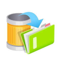 icon trash can and file vector image