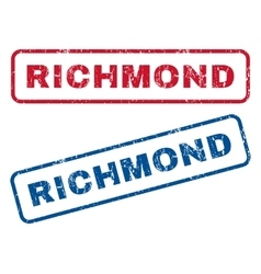 Richmond rubber stamps vector
