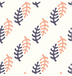 Seamless pattern with stylized elements vector