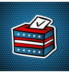 USA elections ballot box vector image