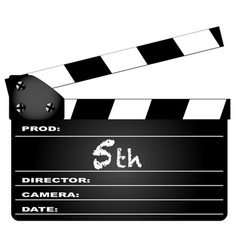 5th year clapperboard vector