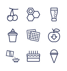 9 sweet icons vector