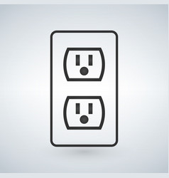 A 110v power outlet isolated on modern vector