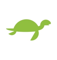 a cute cartoon turtle vector image