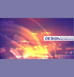 abstract futuristic data technology concept vector image