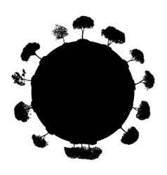 Abstract Silhouette Tree vector image