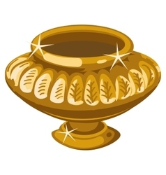 Ancient Golden vase in the Greek style Isolated vector image