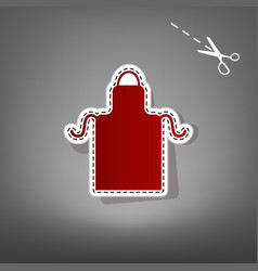 apron simple sign red icon with vector image