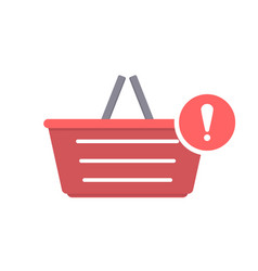 attention basket buy shop shopping icon vector image