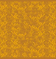 Autumn orange grass seamless pattern vector