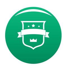 badge crown icon green vector image