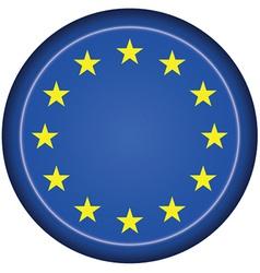 Badge EU flag vector