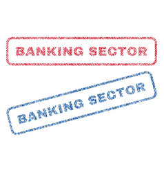 banking sector textile stamps vector image