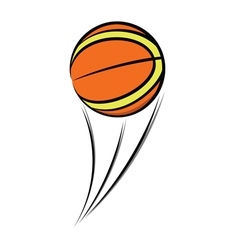 Basketball balloon sketch vector image