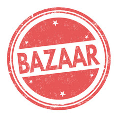 Bazaar sign or stamp vector