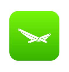 beach chaise icon digital green vector image