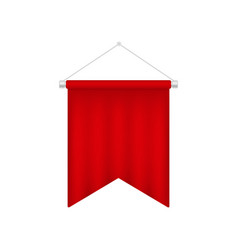 blank red pennant template realistic 3d flag vector image