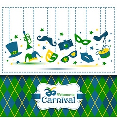 Bright carnival and Welcome to Carnival vector