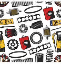 Car spare parts and tools seamless pattern vector