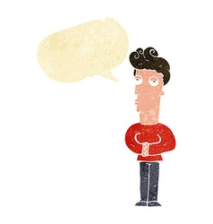 Cartoon arrogant man with speech bubble vector
