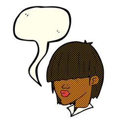 cartoon fashion haircut with speech bubble vector image