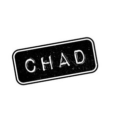 Chad rubber stamp vector image