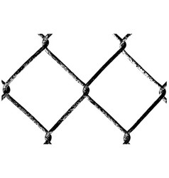 chain link fence on white background vector image