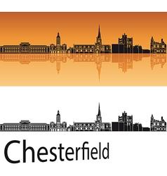 Chesterfield skyline in orange background vector