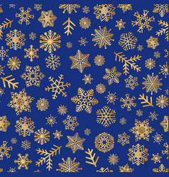 christmas icons snow seamless pattern happy vector image