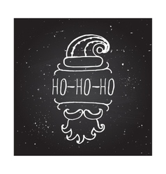 Christmas - typographic element vector image