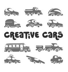Creative cars design elements vector