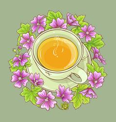 cup of malva tea vector image