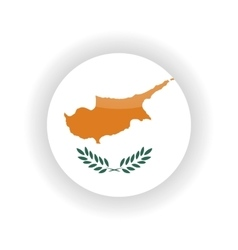 Cyprus icon circle vector image