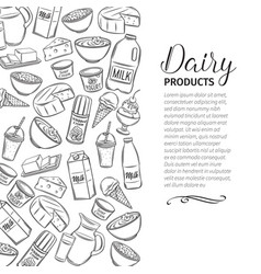 dairy product page design vector image