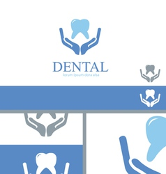 Dental Care Dentist Teeth Wellness Logo Concept vector