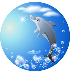 dolphin leaps vector image