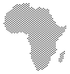 Dotted africa map vector
