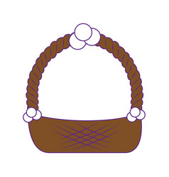 Easter basket icon vector