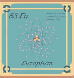 Europium colorful icon vector