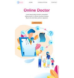 family communicate pediatrician treatment child vector image